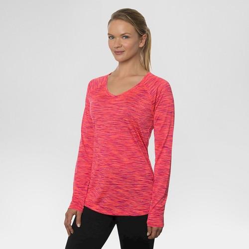 Women's Long Sleeved V-Neck Tee Strawberry XL - Rbx