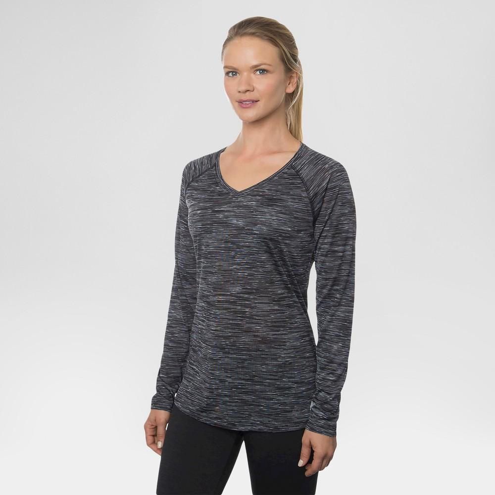 Women's Long Sleeved V-Neck Tee Black M - Rbx