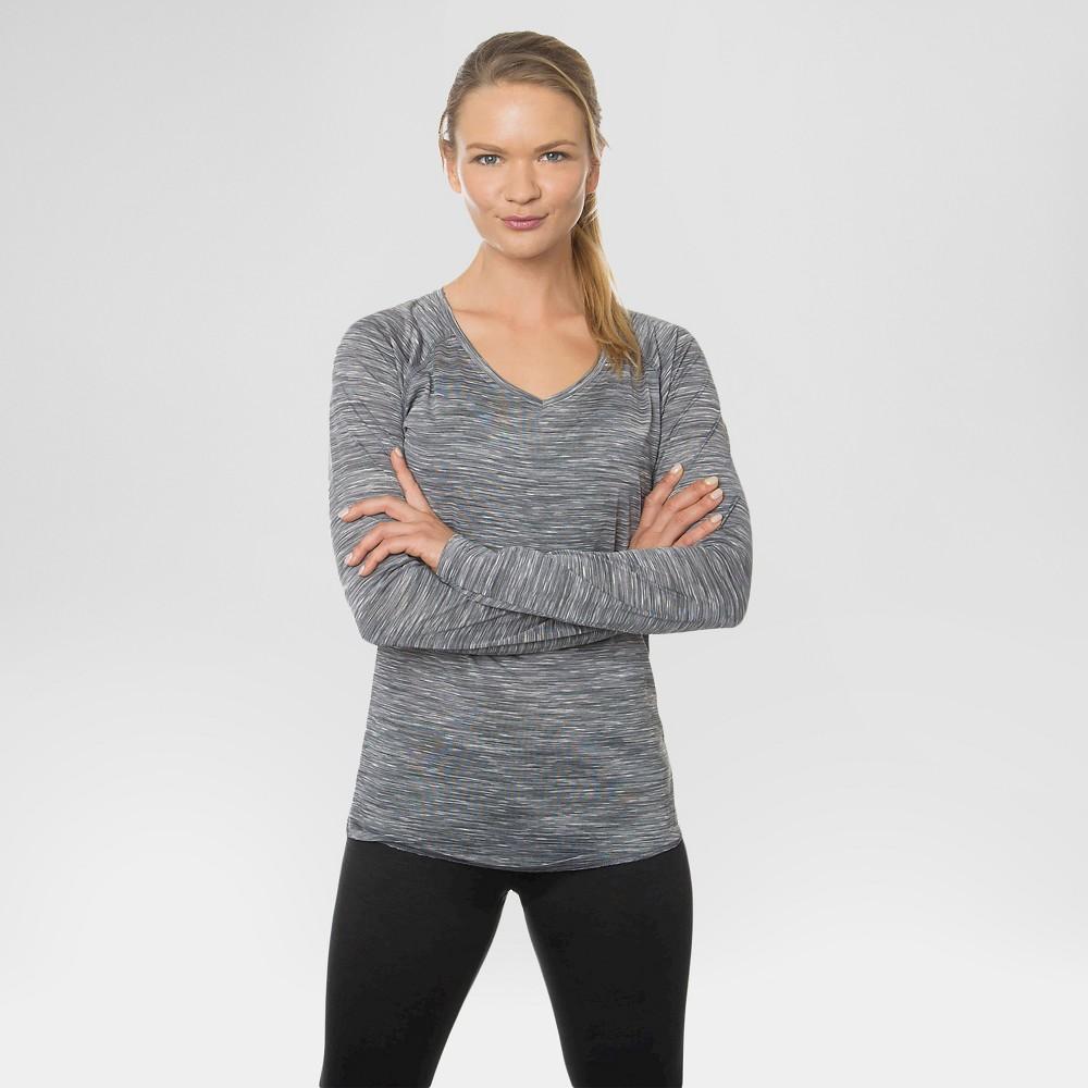 Women's Long Sleeved V-Neck T-Shirt Light Gray M - Rbx