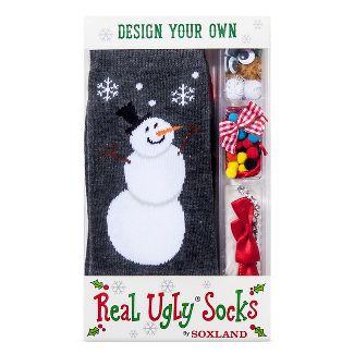 real ugly socks womens build your own kit snowman black 9 11 - Christmas Socks Target