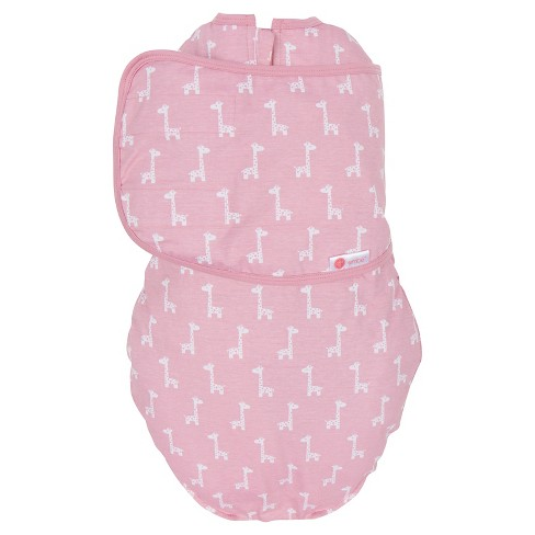 embe® 2-Way Swaddle™ Classic Pink Giraffes - OS - image 1 of 5