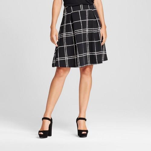 Women's A-Line Party Skirt Black/White XL - 3Hearts (Juniors'), Black White