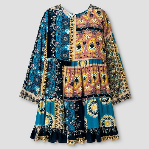 Girls' Tiered Dress Blue S - Xhilaration, Girl's
