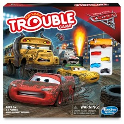 Trouble Cars 3 Lightning McQueen Board Game