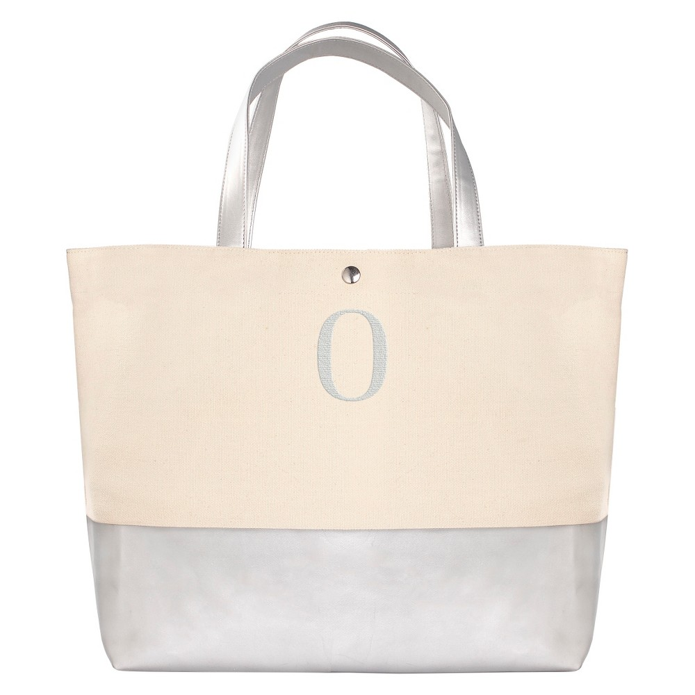 Womens Monogram Silver Metallic Color Dipped Tote Bag - O, Size: Large, Silver - O