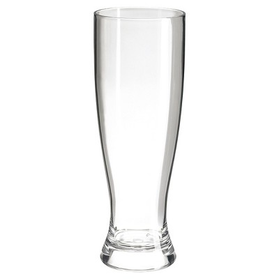 Felli® 6pc Acrylic Single Wall Pilsner Glasses