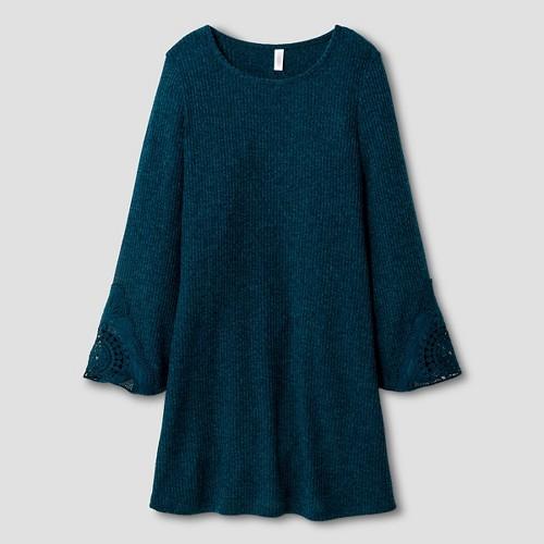 Girls' Bell Sleeve T-Shirt Dress Blue XS - Xhilaration, Girl's