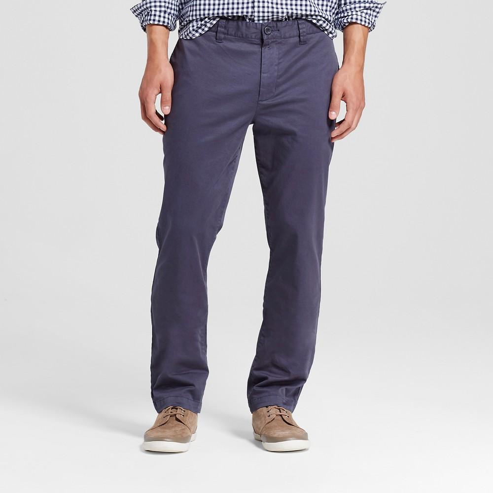 Mens Slim Stretch Chino Pants Steel Blue 34x34 - Merona