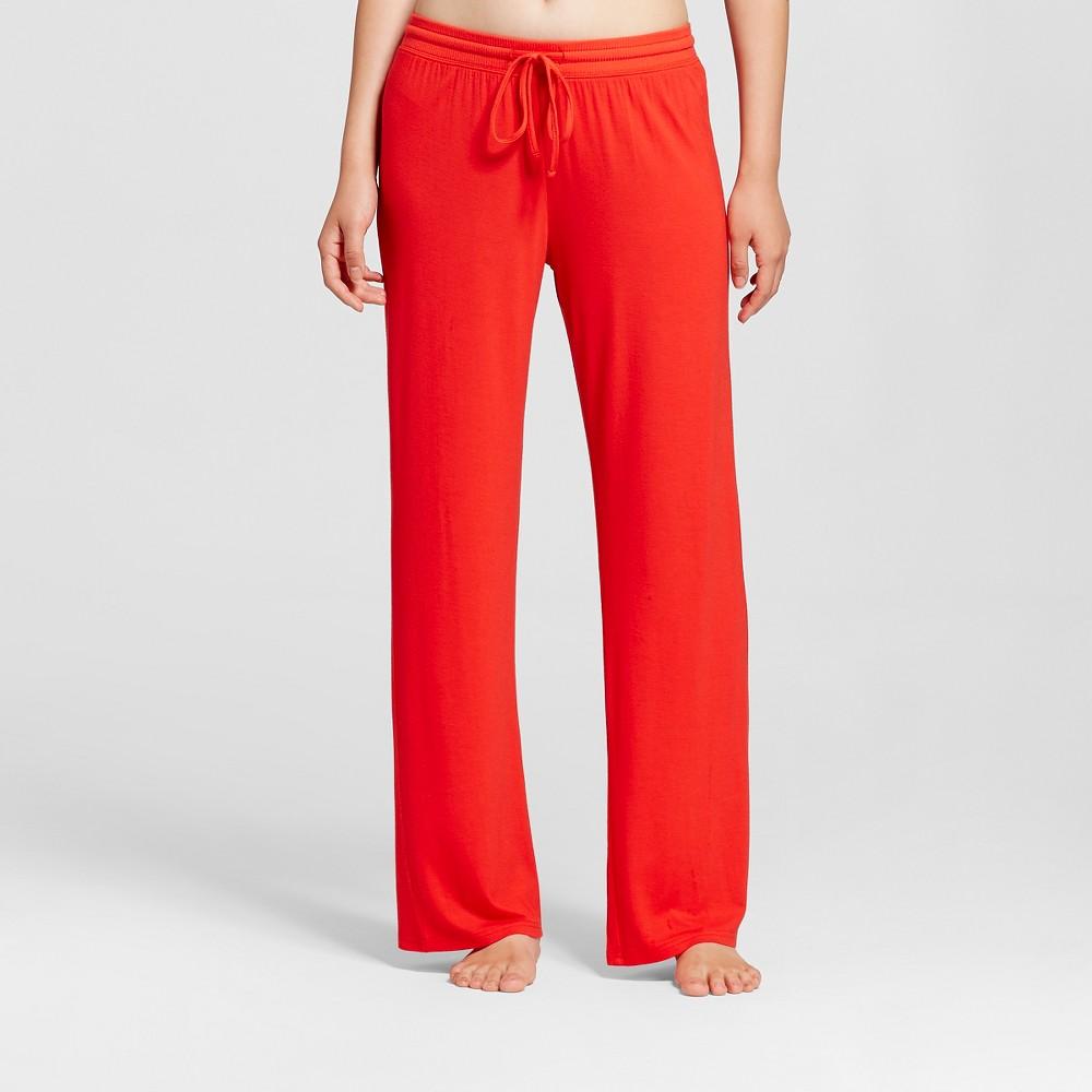 Womens Fluid Knit Pants - Red S, Orange