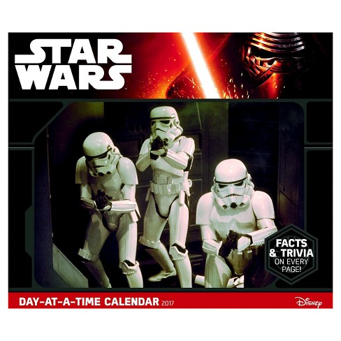 Star Wars Saga Day-at-a-Time 2017 Calendar (Paperback) - image 1 of 2