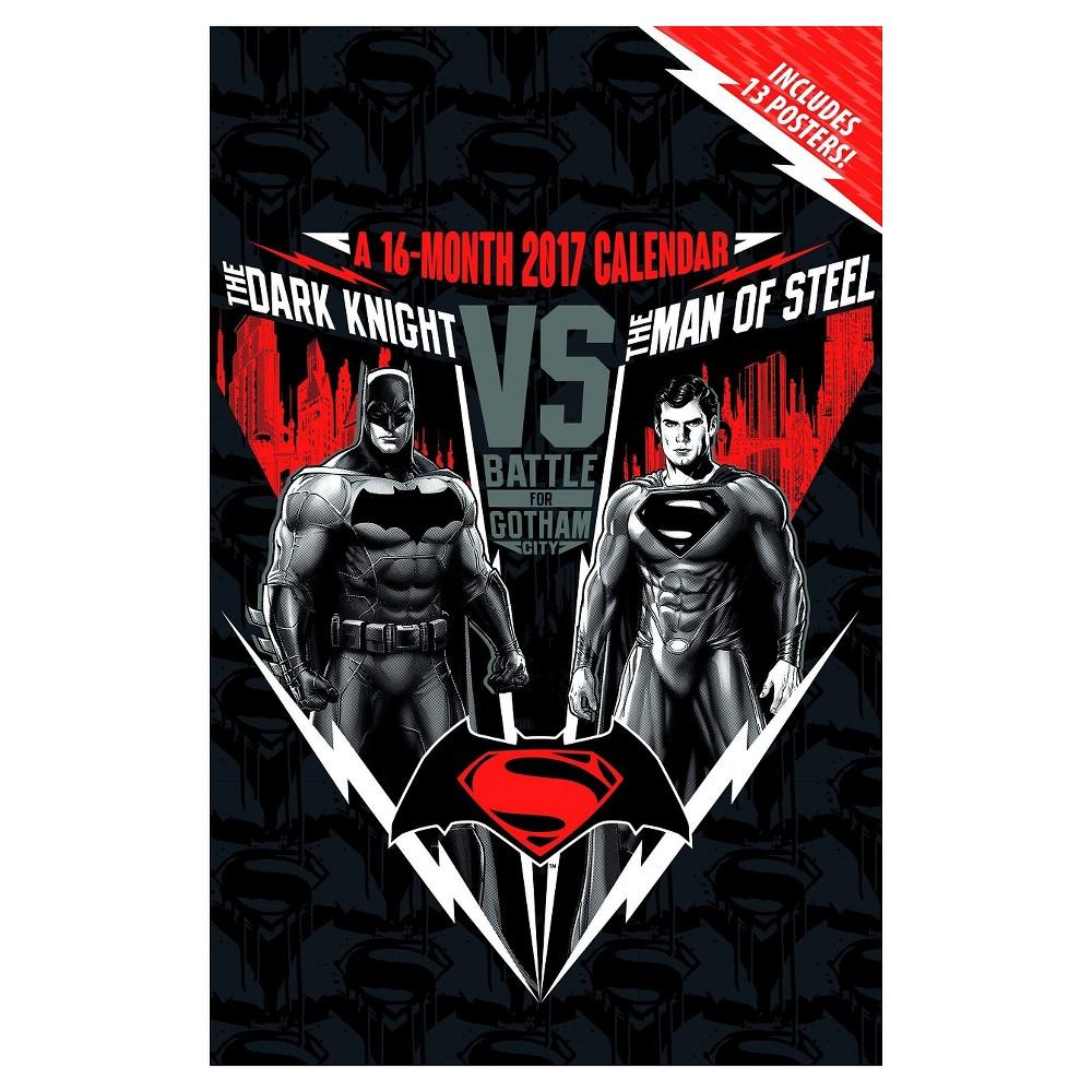 Batman V Superman - Dawn of Justice 2017 Calendar : Includes 13 Posters (Paperback)