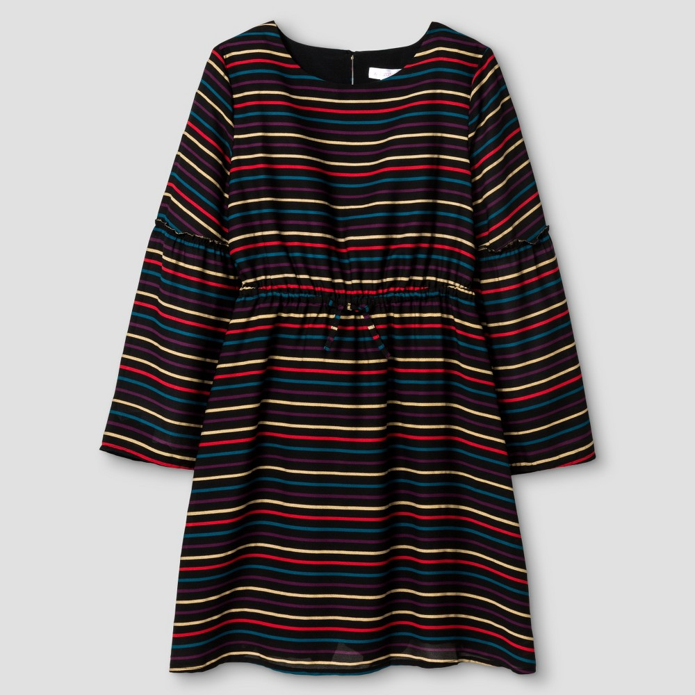 Girls' Striped Dress Multicolored XS – Xhilaration, Girl's