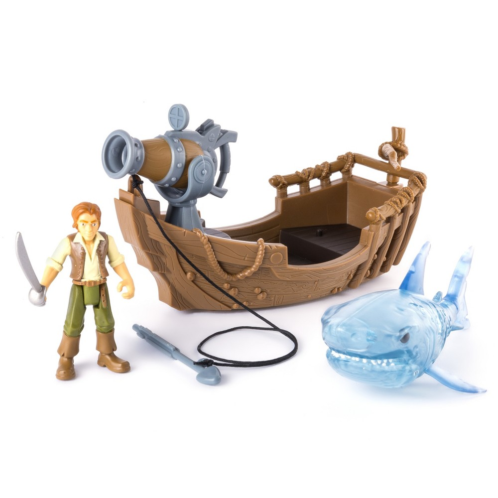 Pirates of the Caribbean Spin Master Boat & Shark Action Figures, Multi-Colored