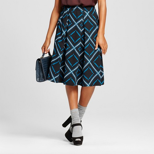 Women's Birdcage Skirt Blue 4 - Who What Wear