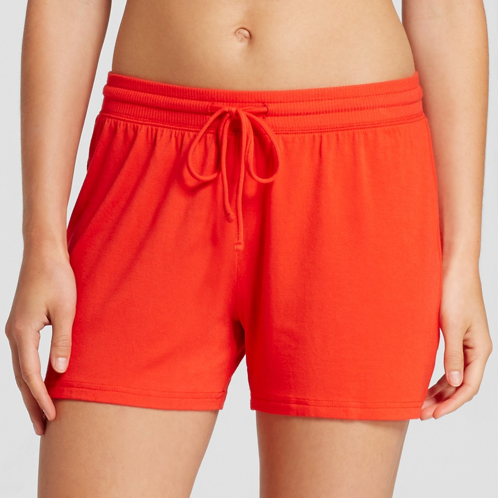 Womens Fluid Knit Shorts - Company Red S, Orange