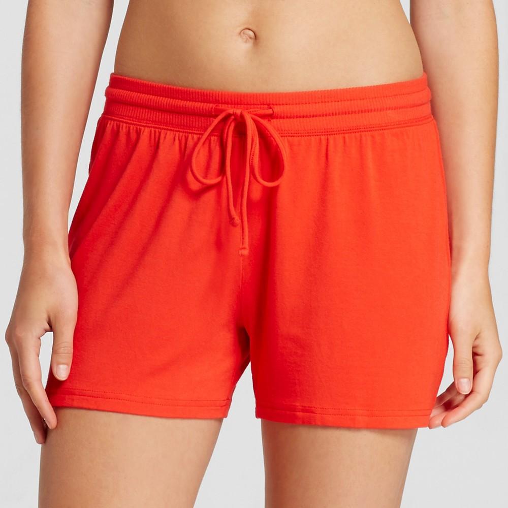 Womens Fluid Knit Shorts - Company Red M, Orange