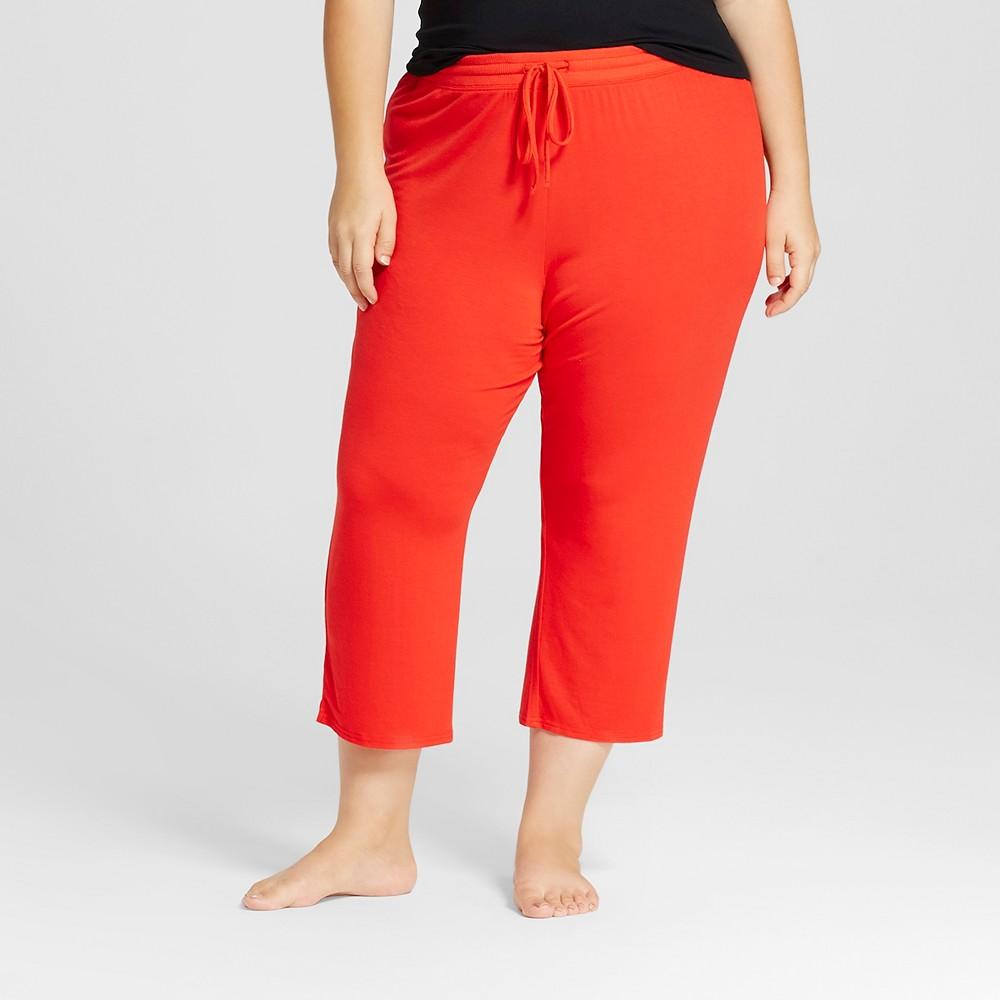 Womens Sleep Pants - Company Red 3X, Orange