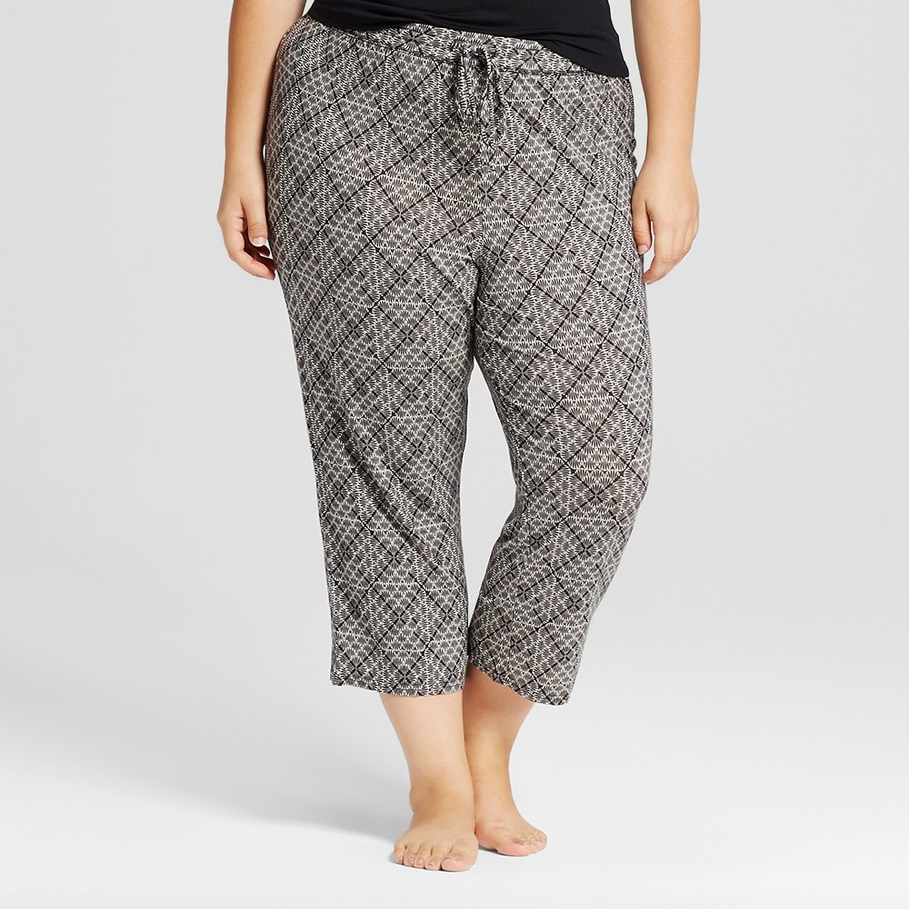 Womens Sleep Pants - Black 1X