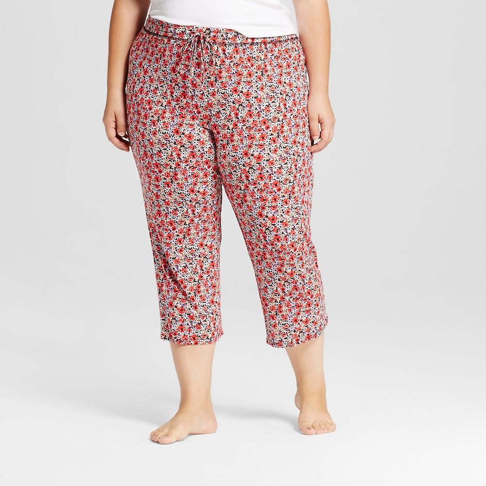 Womens Sleep Pants - Red 1X