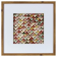 Framed Abstract Wall Art - Pink - Threshold. opens in a new tab.