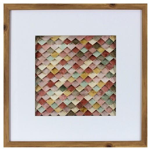 Target Holiday Wall Decor : Framed abstract wall art pink threshold target