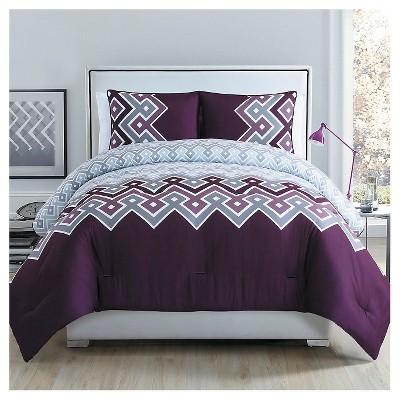 Katya Comforter Set Queen-3 Piece Plum - Clairebella®