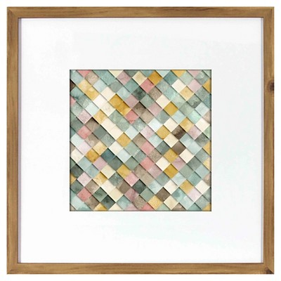 Framed Abstract Wall Art - Green - Threshold™