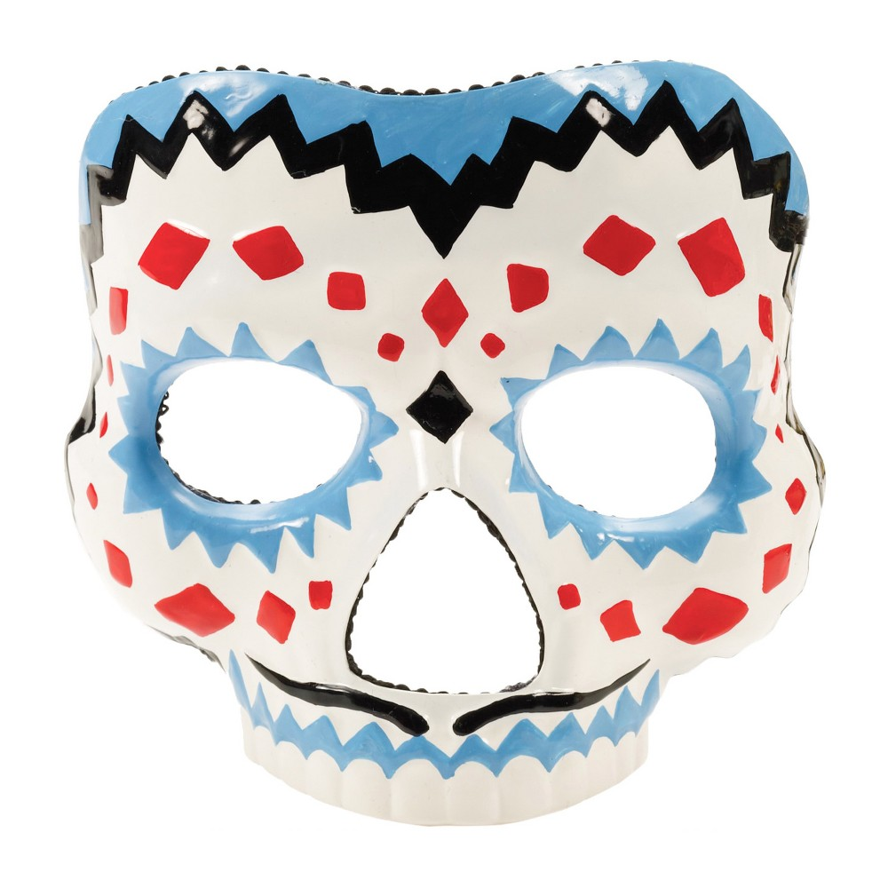 Mens Day Of The Dead Mask, Multi-Colored