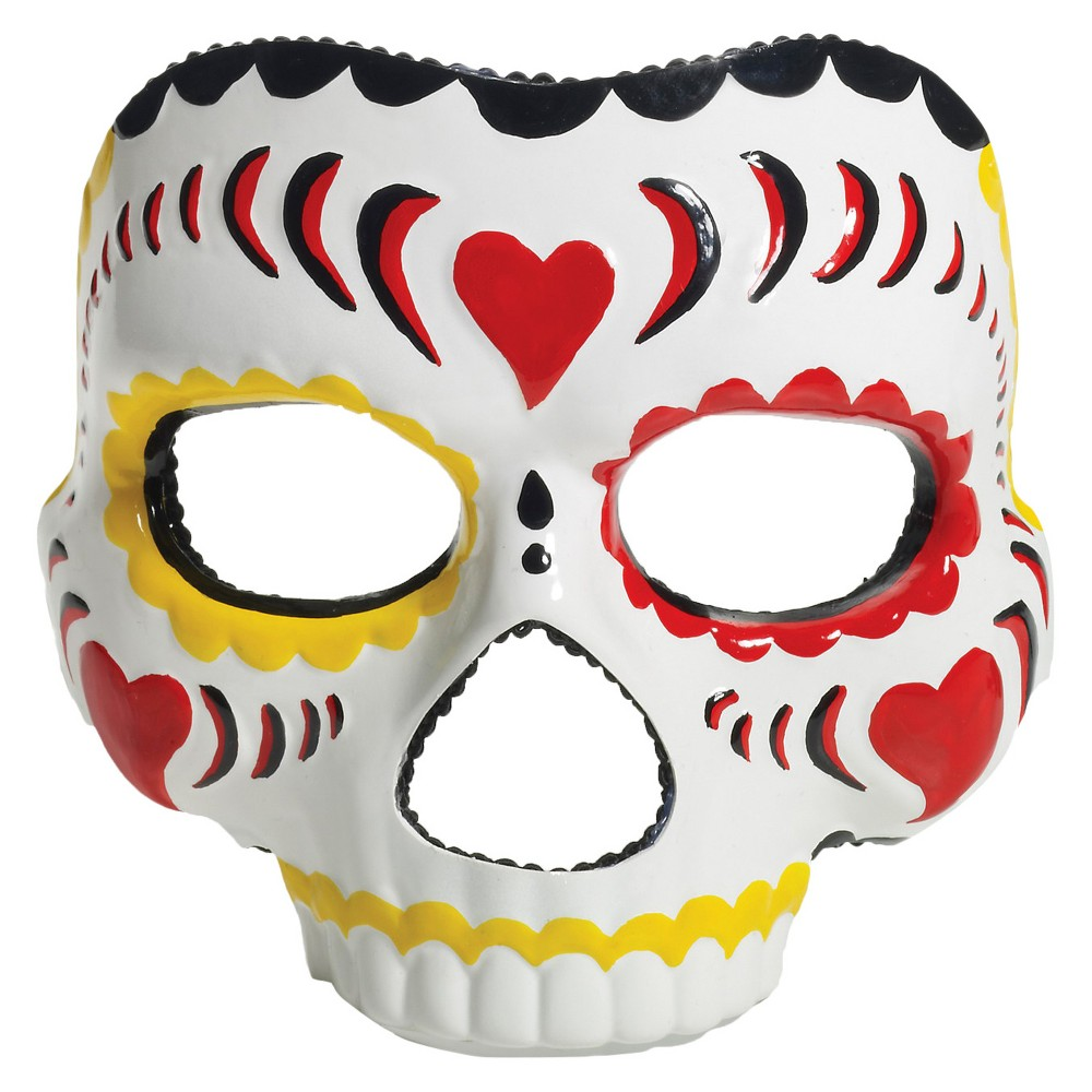 Womens Day Of The Dead Mask, Multi-Colored