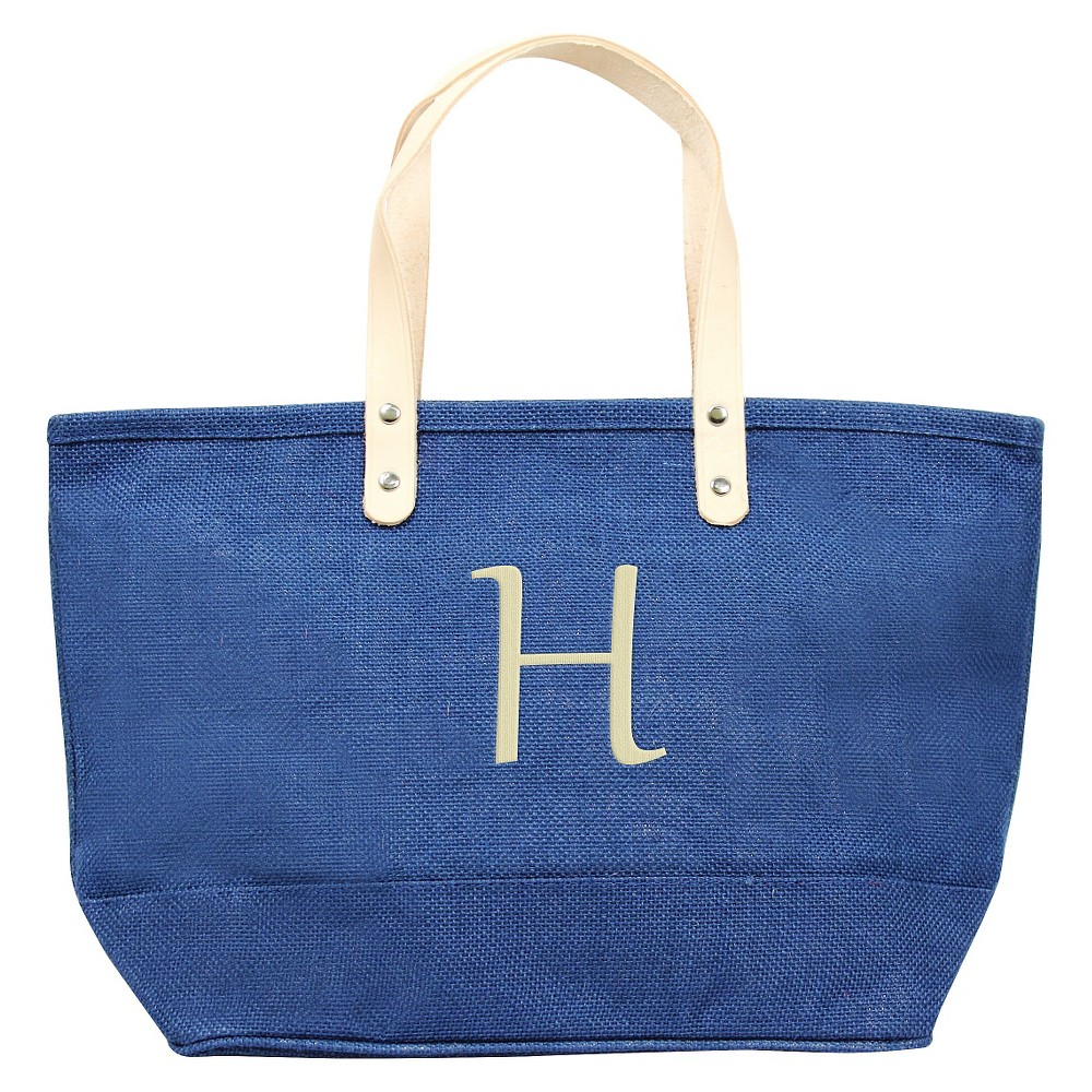 Womens Monogram Blue Nantucket Tote - H, Size: Large, Blue - H