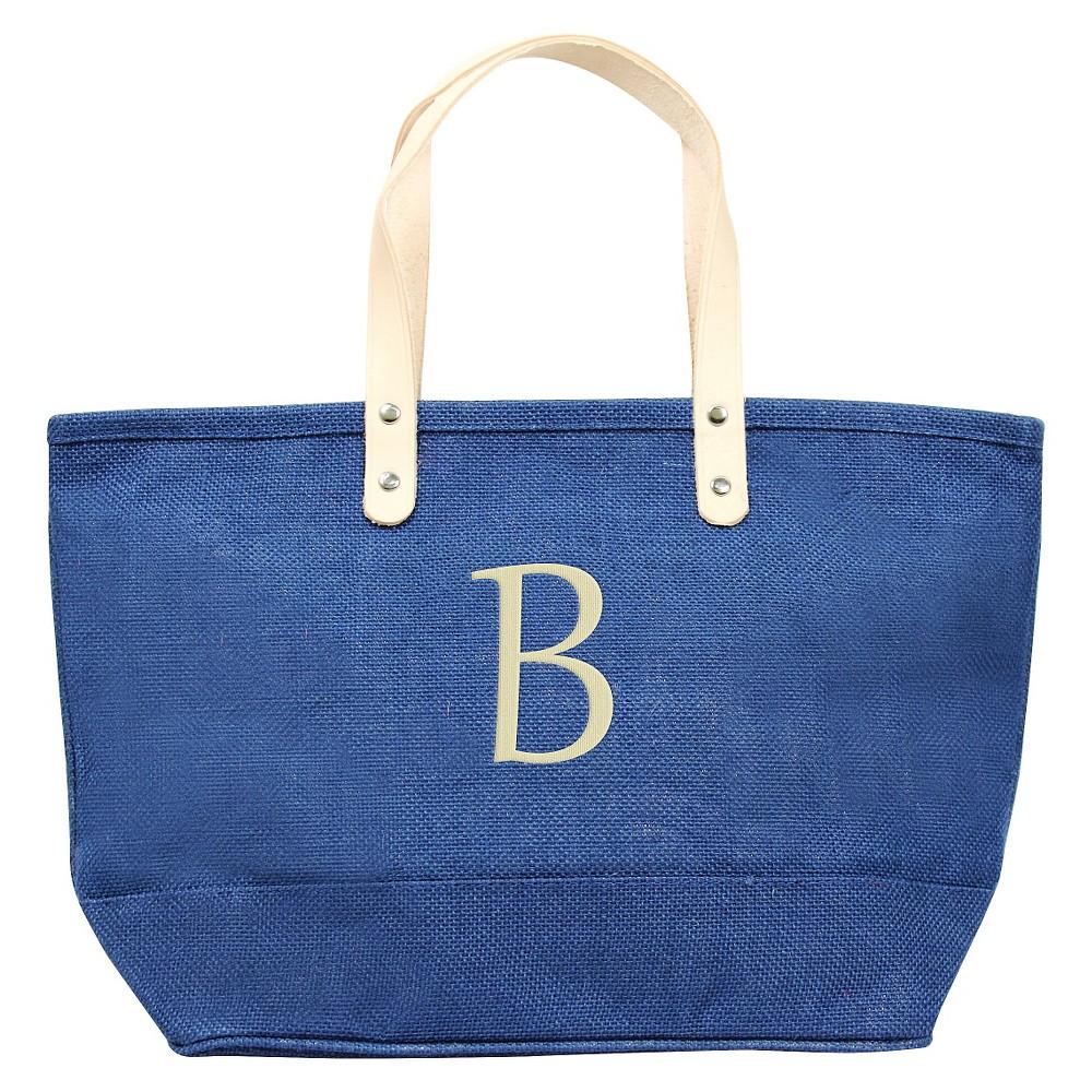 Womens Monogram Blue Nantucket Tote - B, Size: Large, Blue - B