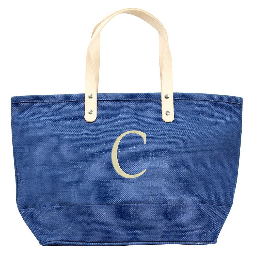 Womens Monogram Blue Nantucket Tote - C, Size: Large, Blue - C