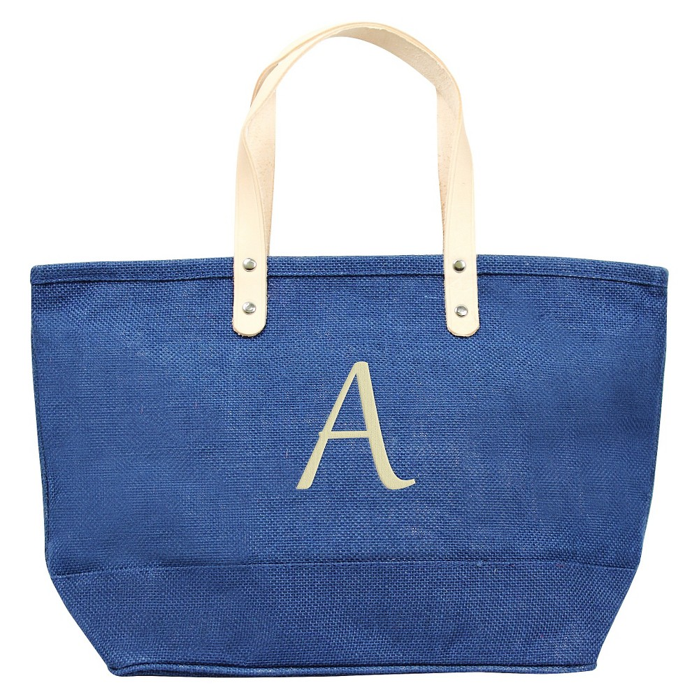Womens Monogram Blue Nantucket Tote - A, Size: Large, Blue - A