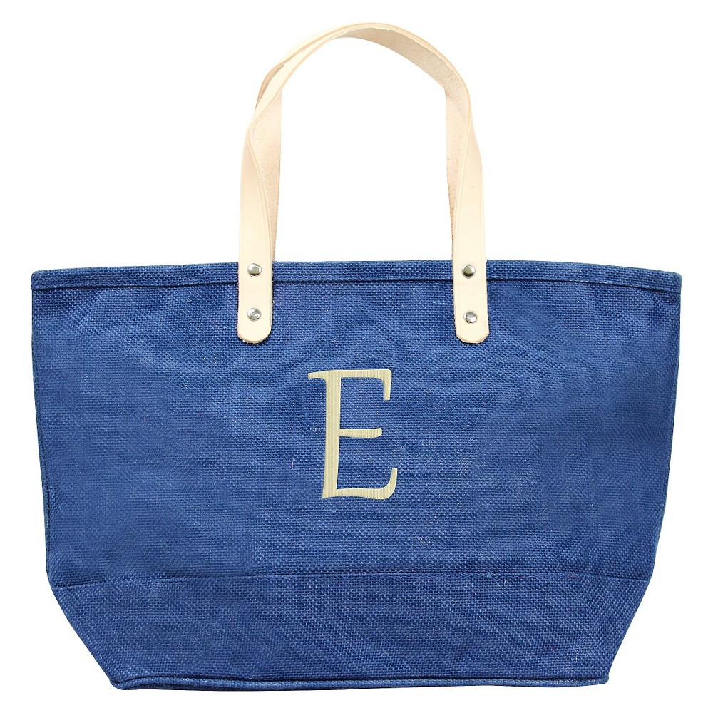 Womens Monogram Blue Nantucket Tote - E, Size: Large, Blue - E