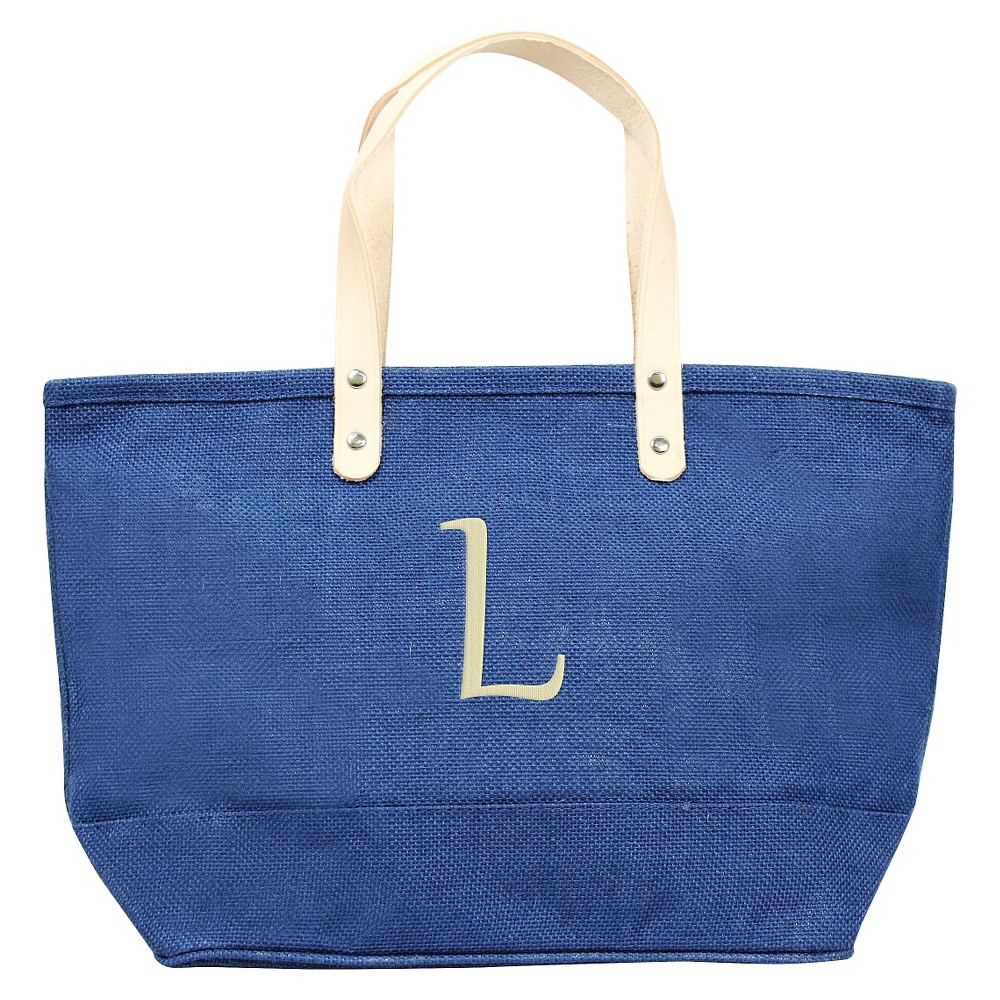 Women's Monogram Blue Nantucket Tote - L, Size: Large, Blue - L
