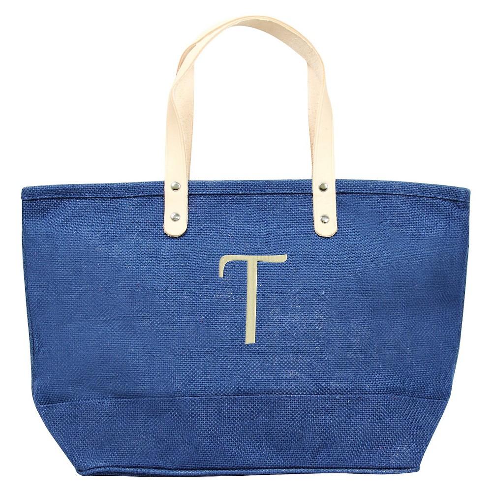 Womens Monogram Blue Nantucket Tote - T, Size: Large, Blue - T