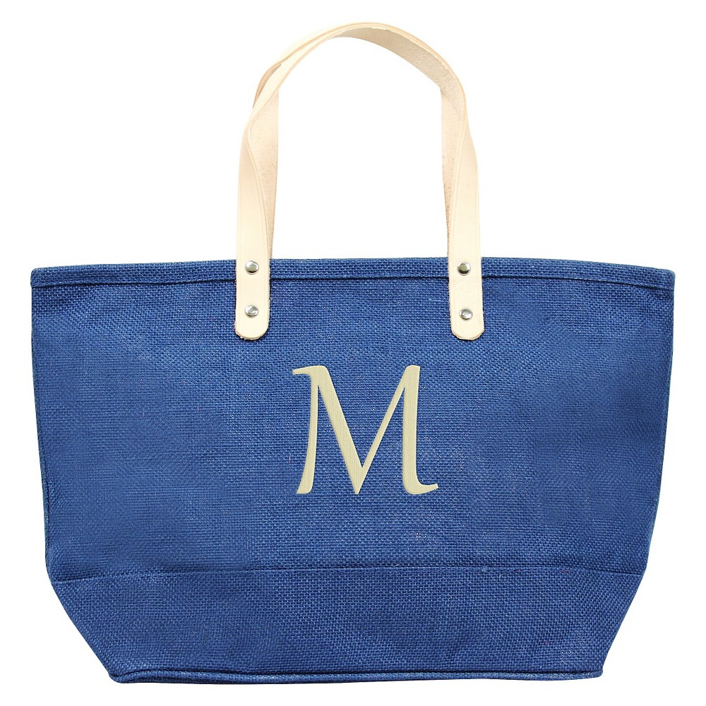Women's Monogram Blue Nantucket Tote - M, Size: Medium, Blue - M