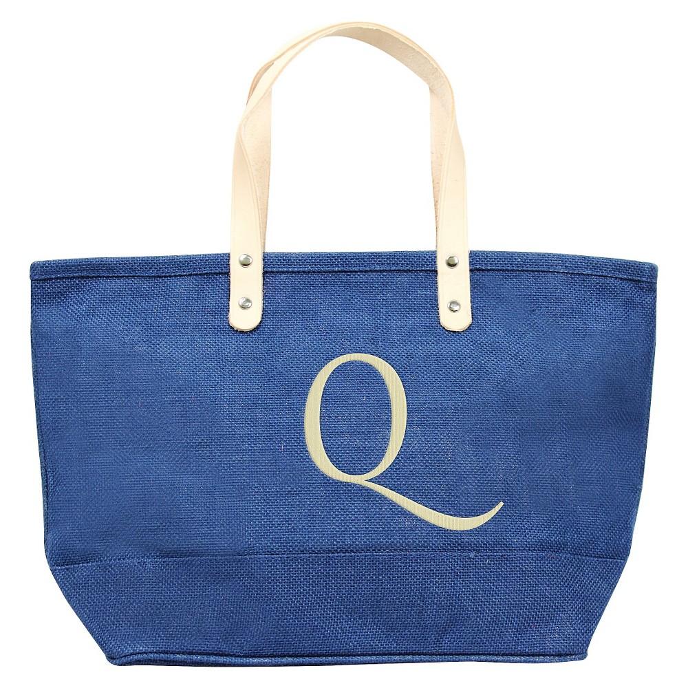 Womens Monogram Blue Nantucket Tote - Q, Size: Large, Blue - Q