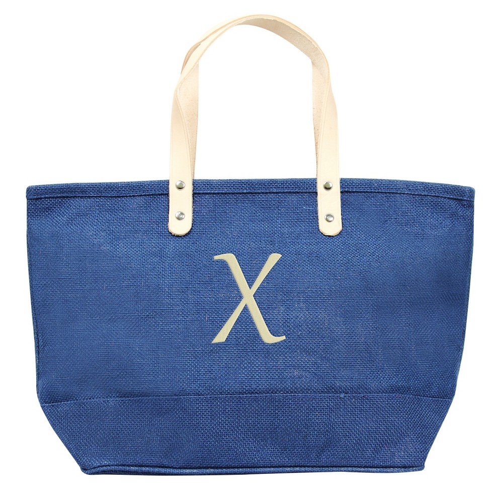 Womens Monogram Blue Nantucket Tote - X, Size: Large, Blue - X