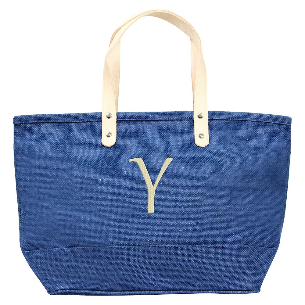 Womens Monogram Blue Nantucket Tote - Y, Size: Large, Blue - Y