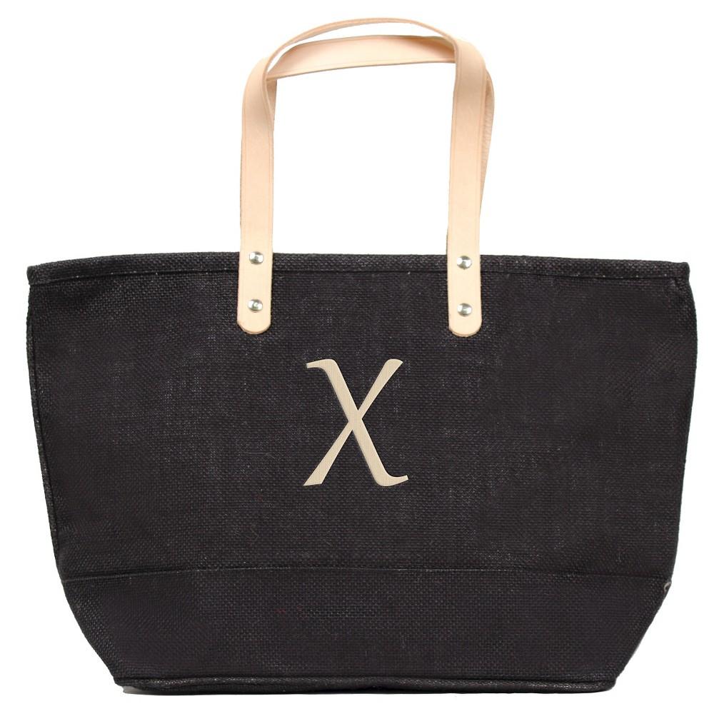 Womens Monogram Black Nantucket Tote - X, Size: Large, Black - X