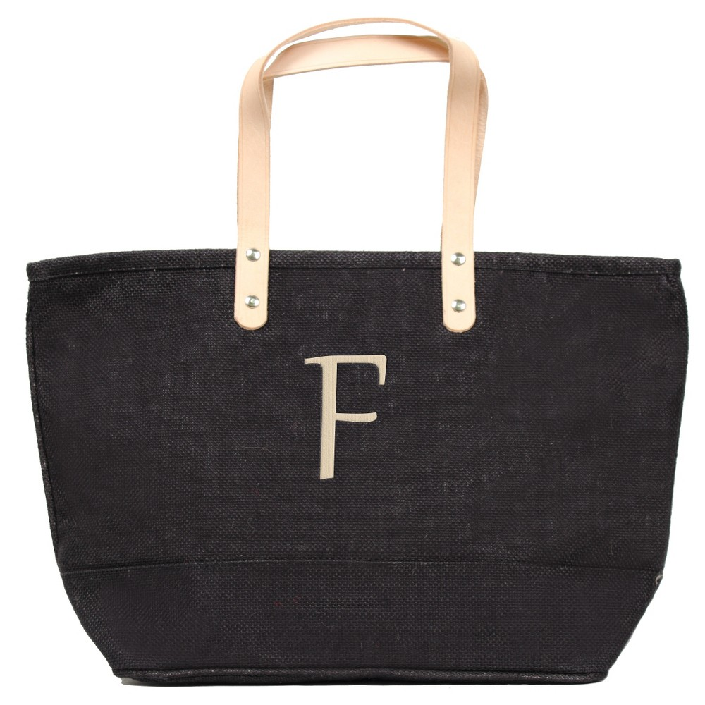 Womens Monogram Black Nantucket Tote - F, Size: Large, Black - F