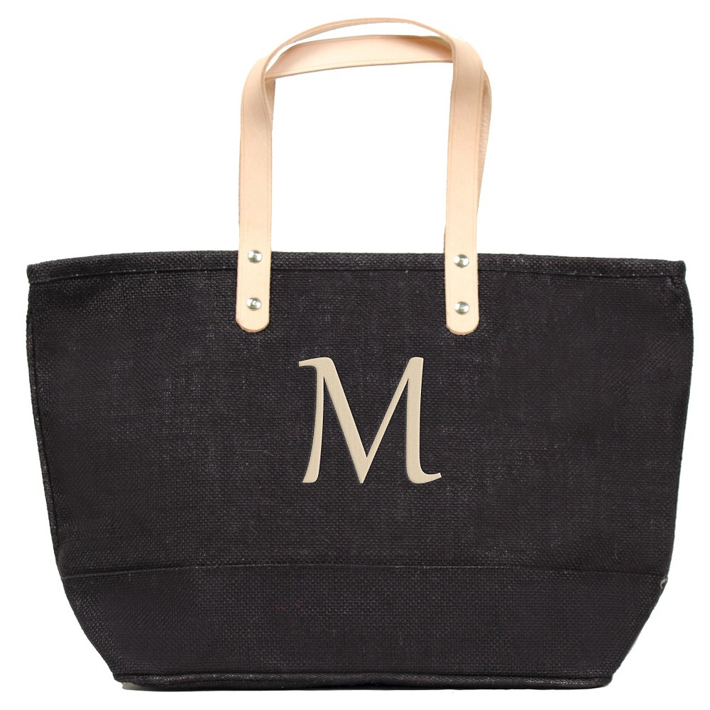 Womens Monogram Black Nantucket Tote - M, Size: Medium, Black - M