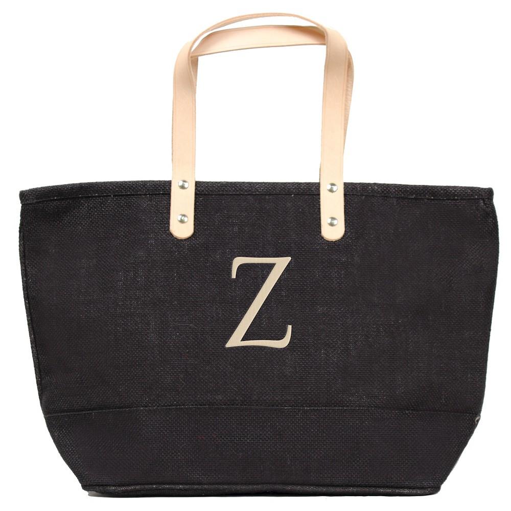Womens Monogram Black Nantucket Tote - Z, Size: Large, Black - Z