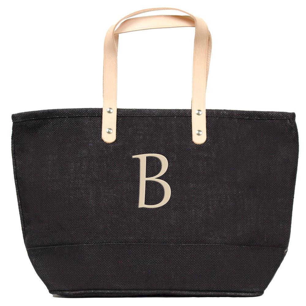 Womens Monogram Black Nantucket Tote - B, Size: Large, Black - B