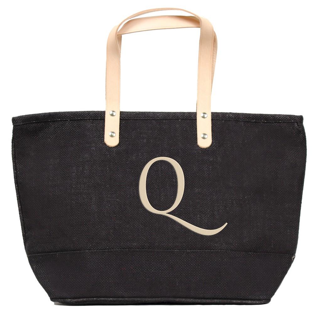 Womens Monogram Black Nantucket Tote - Q, Size: Large, Black - Q