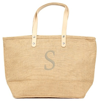 Women's Monogram Natural Nantucket Tote - S