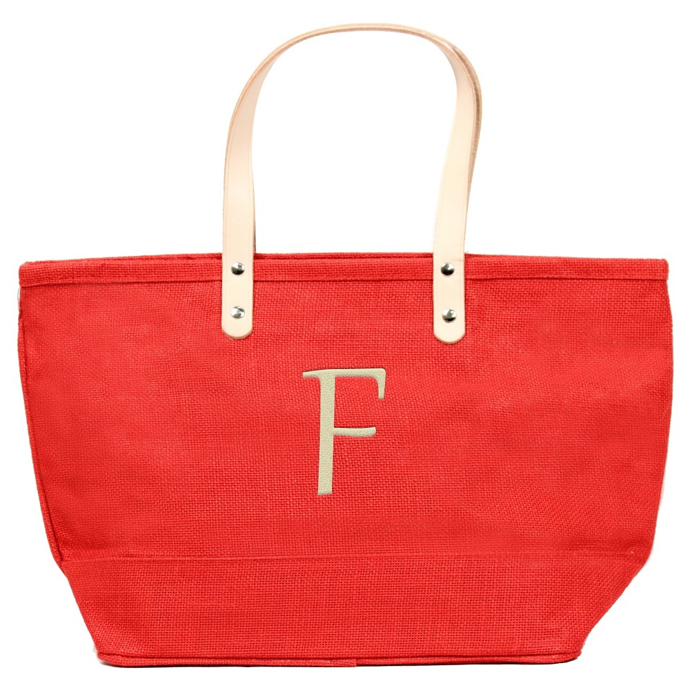 Womens Monogram Red Nantucket Tote - F, Size: Large, Red - F