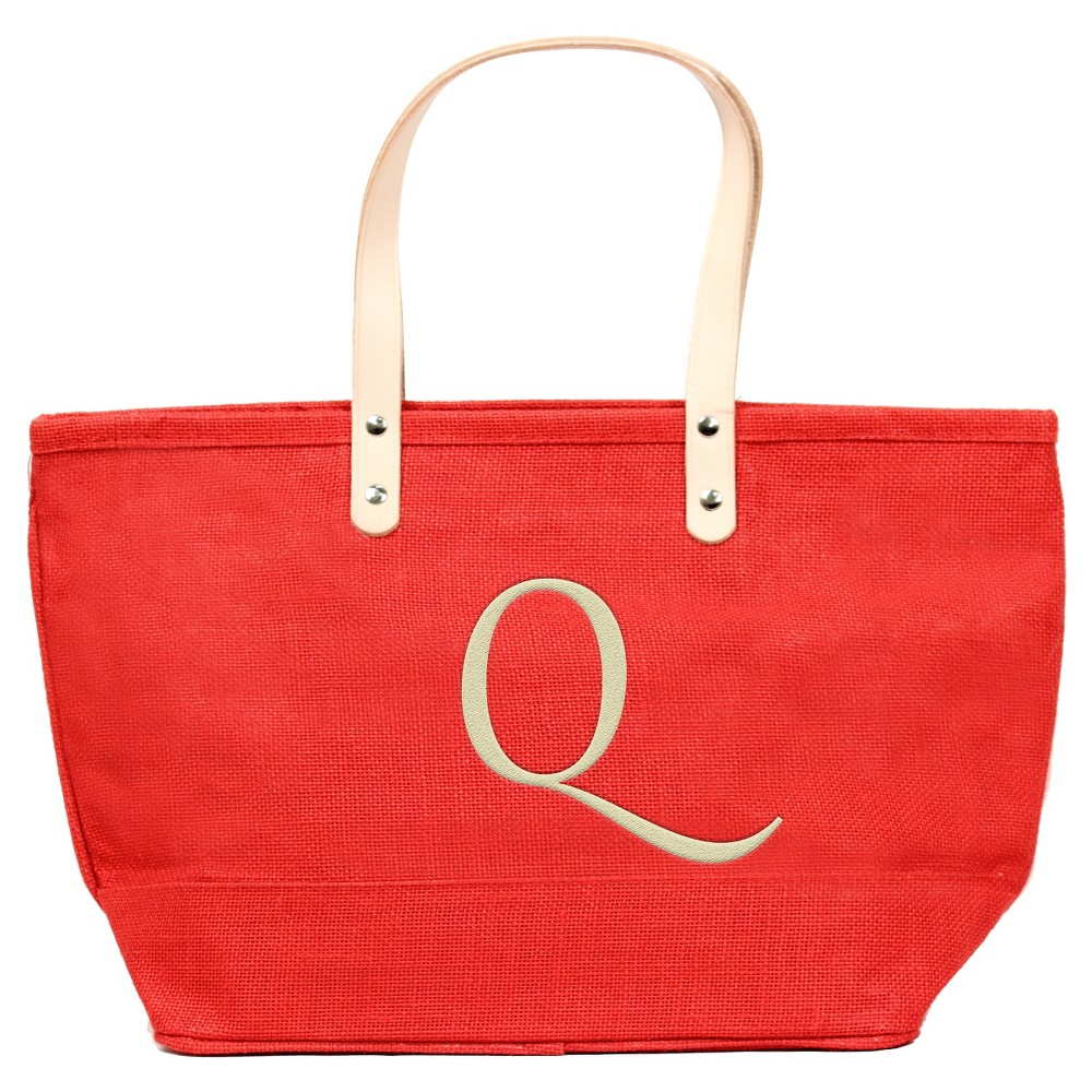 Womens Monogram Red Nantucket Tote - Q, Size: Large, Red - Q
