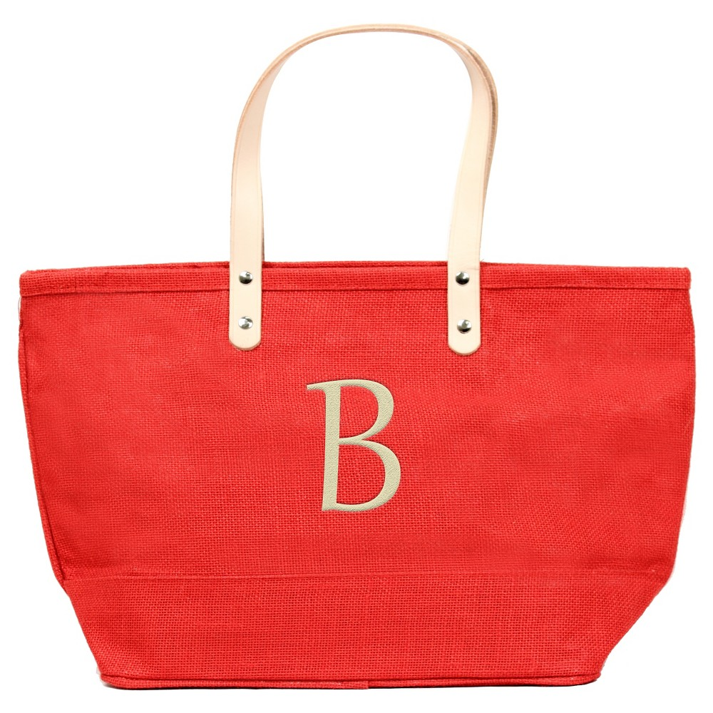 Womens Monogram Red Nantucket Tote - B, Size: Large, Red - B